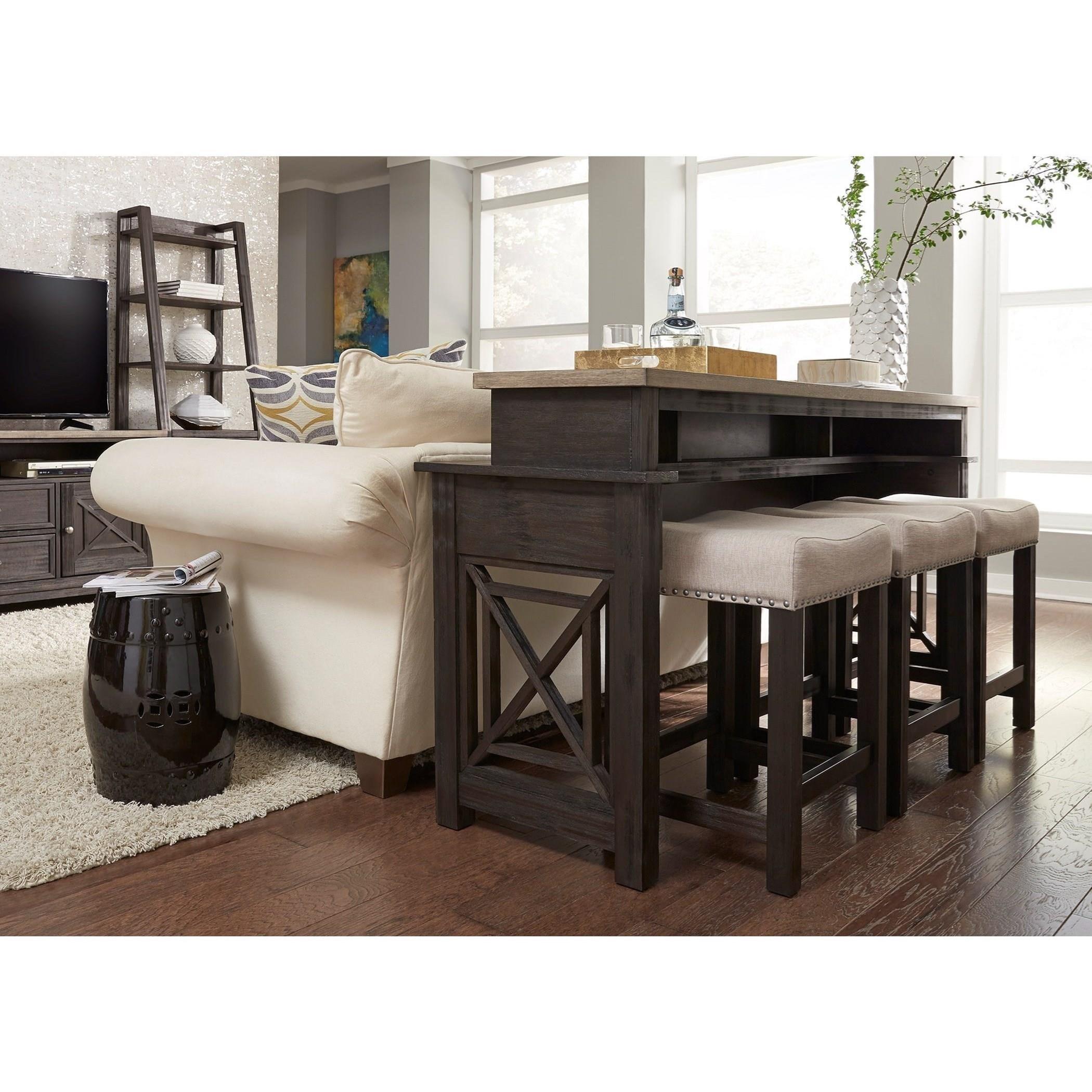 Liberty furniture heatherbrook occasional console bar