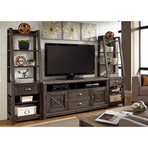 Liberty Furniture Heatherbrook Entertainment Entertainment Center with Piers
