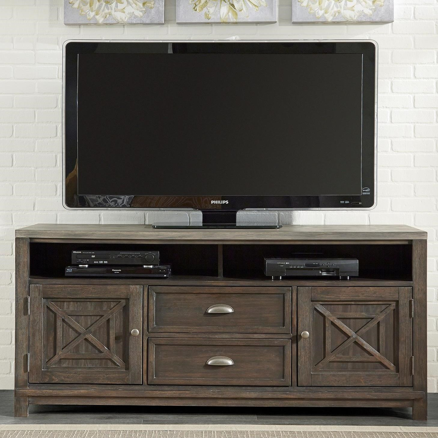 Liberty Furniture Heatherbrook Entertainment Entertainment TV Stand - Item Number: 422-TV66