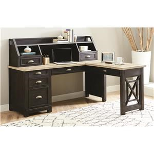 3 Piece L Desk With Hutch
