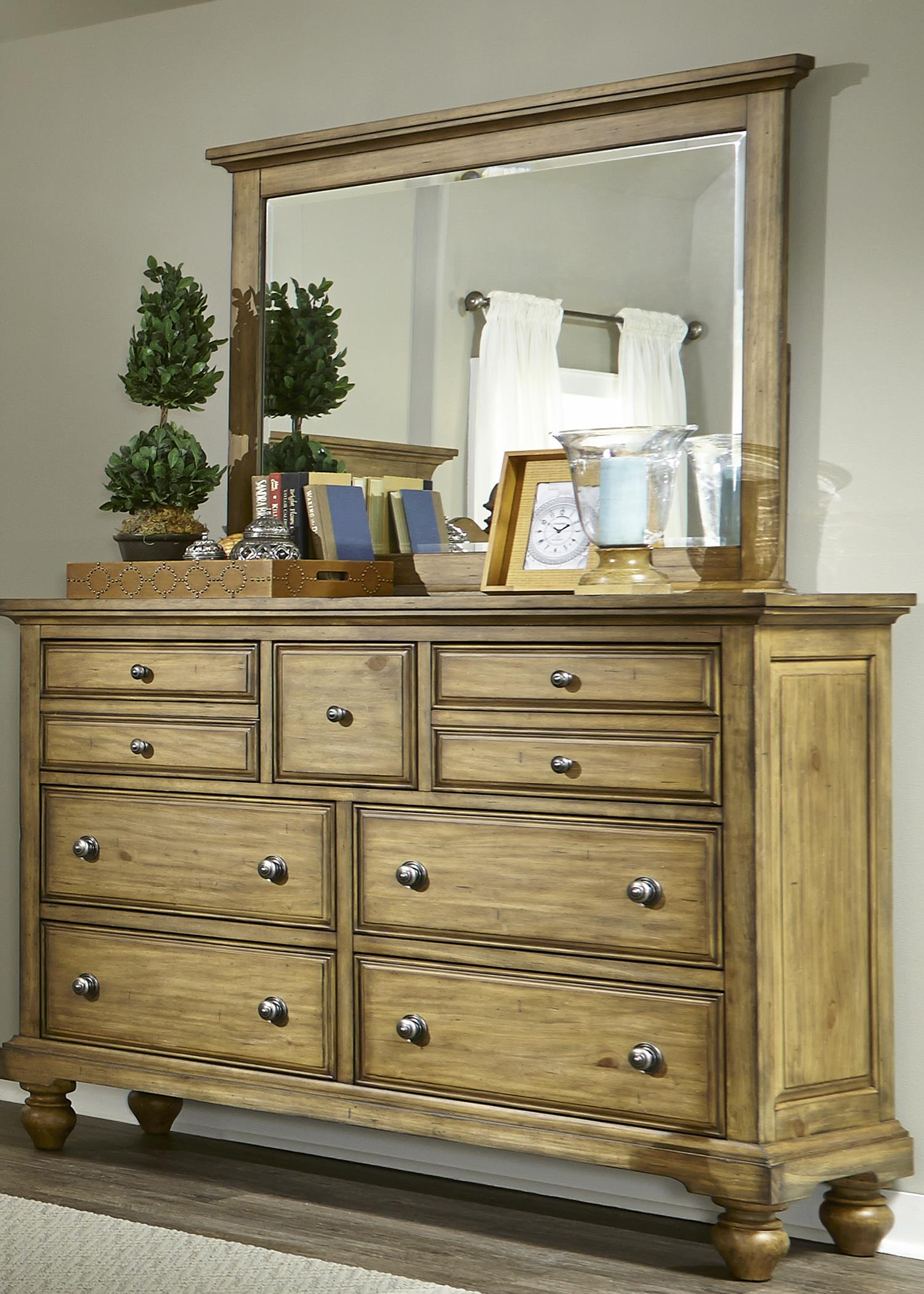 Liberty Furniture High Country Chesser and Mirror - Item Number: 797-BR-DM