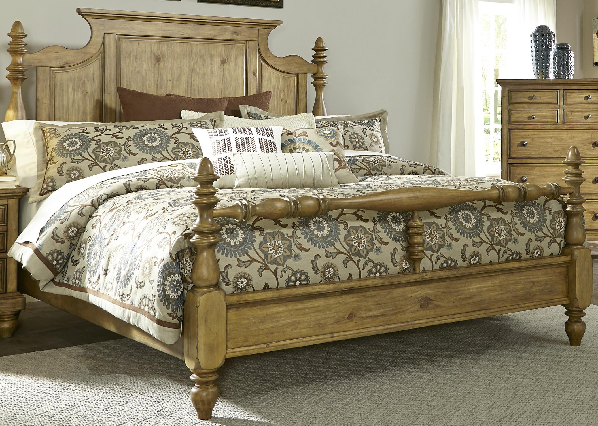 Liberty Furniture High Country King Poster Bed - Item Number: 797-BR-KPS