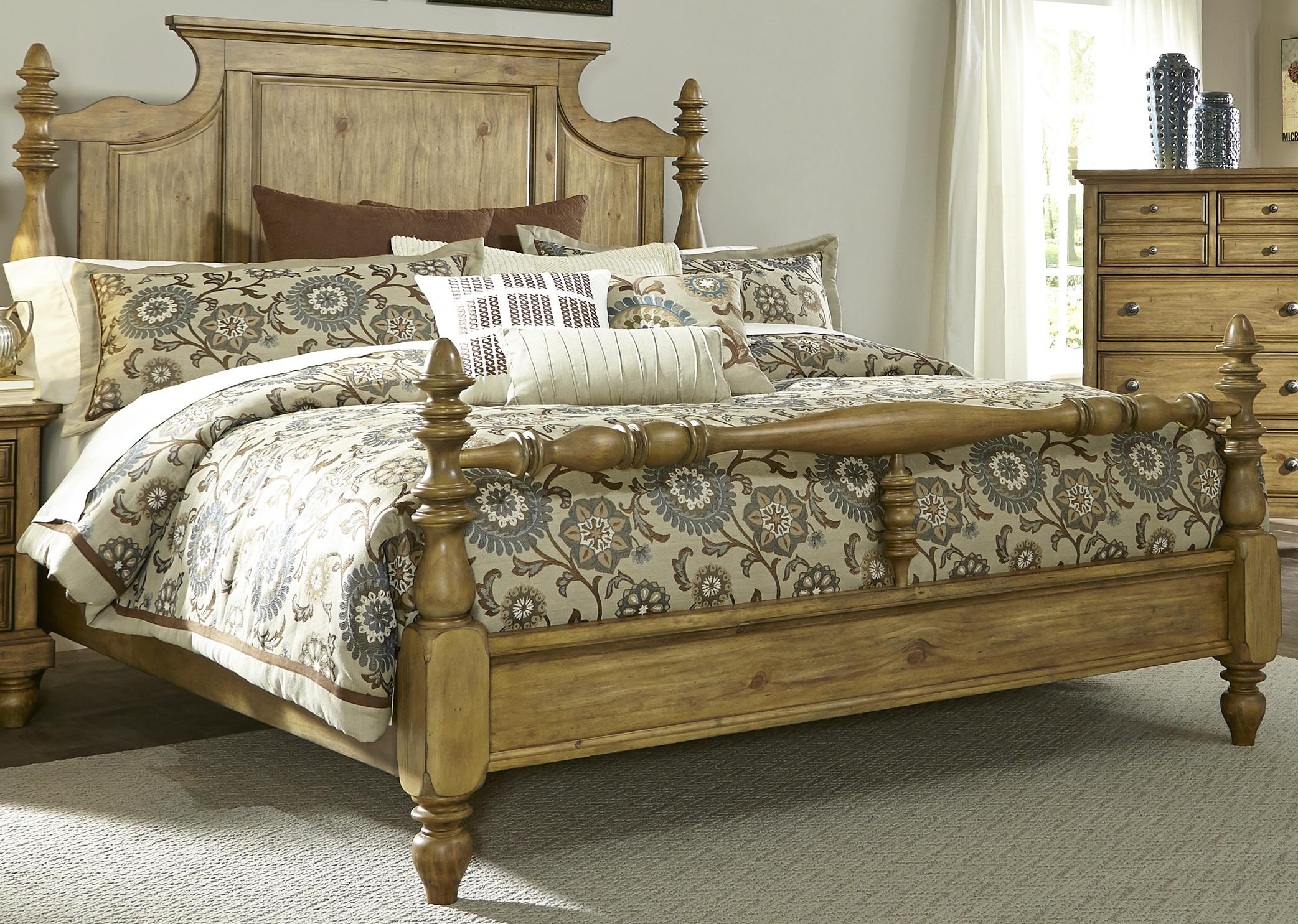 Liberty Furniture High Country Queen Poster Bed - Item Number: 797-BR-QPS