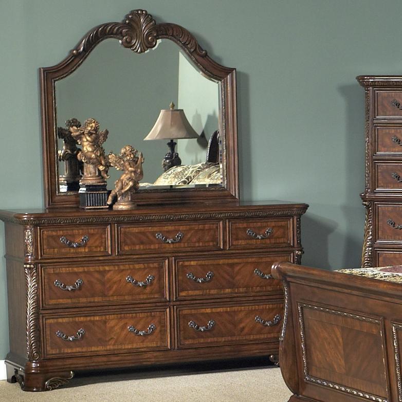 Liberty Furniture Highland Court Dresser and Mirror - Item Number: 620-BR-SET50