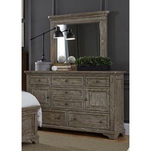 Liberty Furniture Highlands 7 Drawer Dresser & Mirror