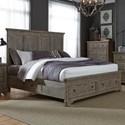 Liberty Furniture Highlands King Two Sided Storage Bed  - Item Number: 727-BR-K2S