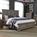Liberty Furniture Highlands King Panel Bed  - Item Number: 727-BR-KPB