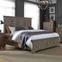 Liberty Furniture Highlands King Storage Bed  - Item Number: 727-BR-KSB