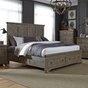 Liberty Furniture Highlands Queen Two Sided Storage Bed  - Item Number: 727-BR-Q2S