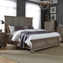 Liberty Furniture Highlands Queen Panel Bed  - Item Number: 727-BR-QPB