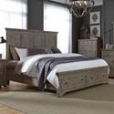 Liberty Furniture Highlands Queen Storage Bed  - Item Number: 727-BR-QSB