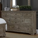 Liberty Furniture Highlands 7 Drawer Dresser with 2 Doors