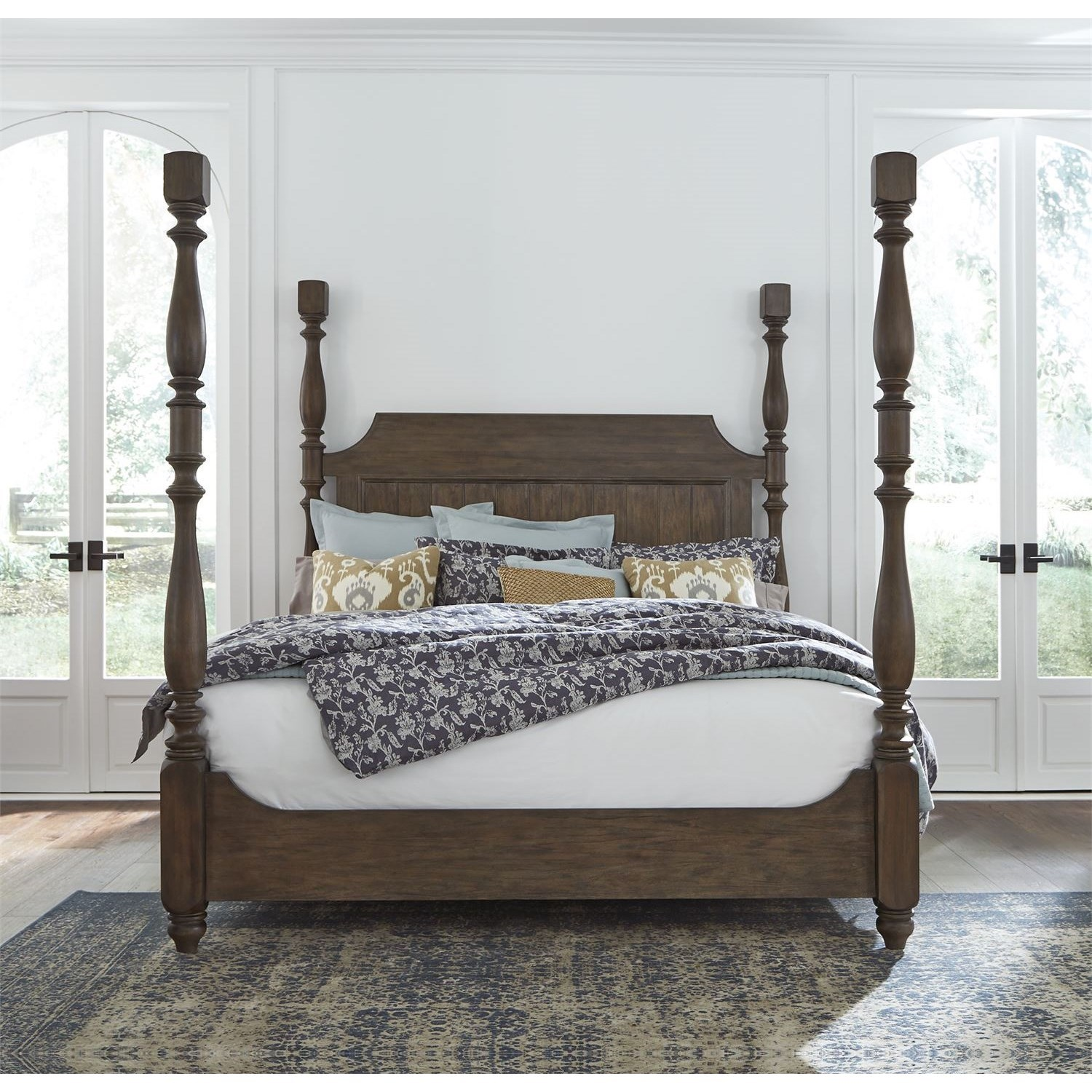 Homestead King Poster Bed by Libby at Walker's Furniture
