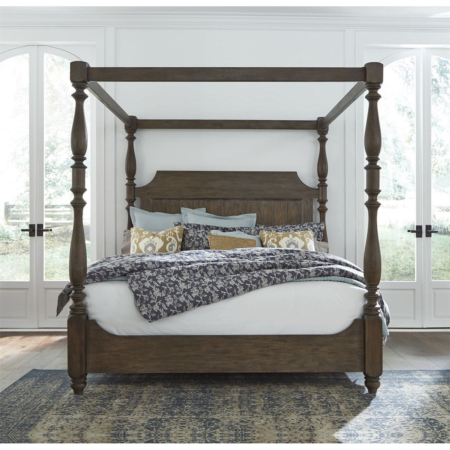 Homestead Queen Canopy Bed by Libby at Walker's Furniture