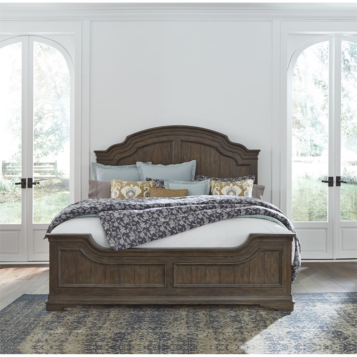 Homestead Queen Panel Bed by Libby at Walker's Furniture