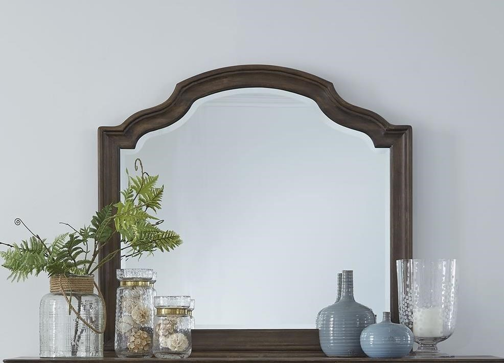 Homestead Scalloped Dresser Mirror by Libby at Walker's Furniture