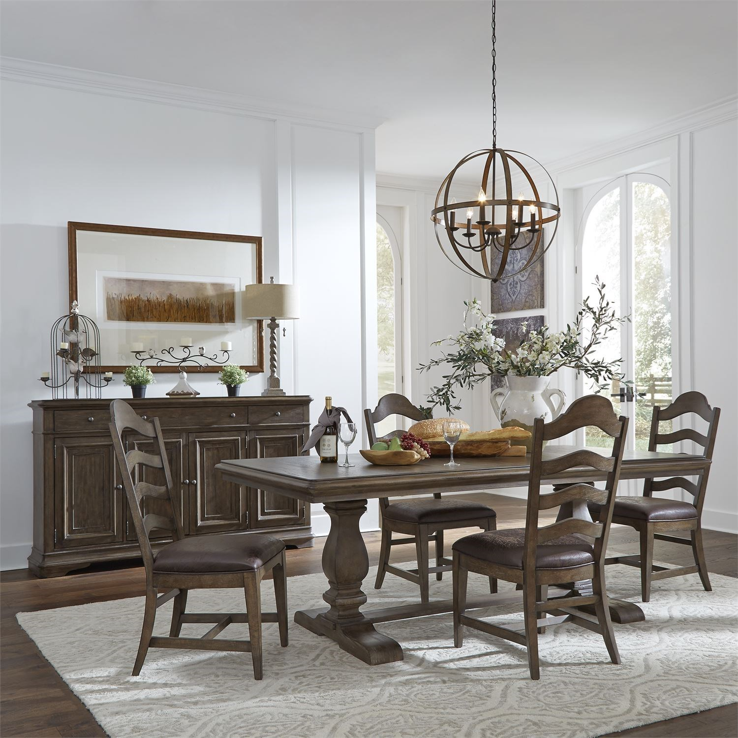 Homestead 5-Piece Table and Chair Set by Libby at Walker's Furniture