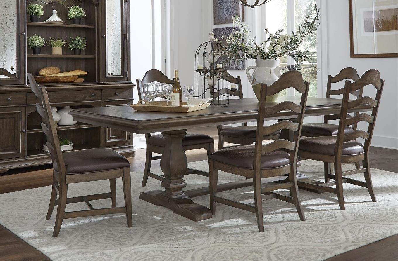 Homestead 7-Piece Table and Chair Set by Libby at Walker's Furniture