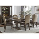 Liberty Furniture Homestead 7-Piece Table and Chair Set - Item Number: 693-DR-O7TRS