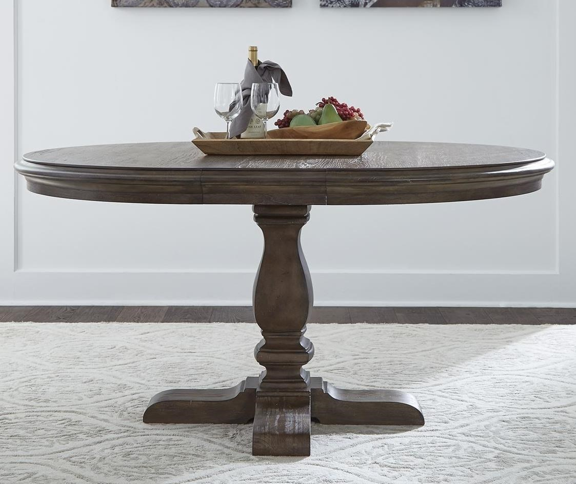 Homestead Pedestal Dining Table by Libby at Walker's Furniture