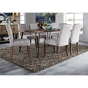 Liberty Furniture Horizons Table and Upholstered Chair Set - Item Number: 42-T3560+6xC6501S