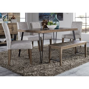 Liberty Furniture Horizons Table and Chair Set with Bench  sc 1 st  Furniture Fair & Table and Chair Sets | Jacksonville Greenville Goldsboro New Bern ...