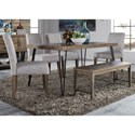 Liberty Furniture Horizons Table and Chair Set with Bench - Item Number: 42-T3560+C9000B+4xC6501S