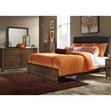 Liberty Furniture Hudson Square Bedroom 6 Drawer Dresser & Mirror with Wood Frame