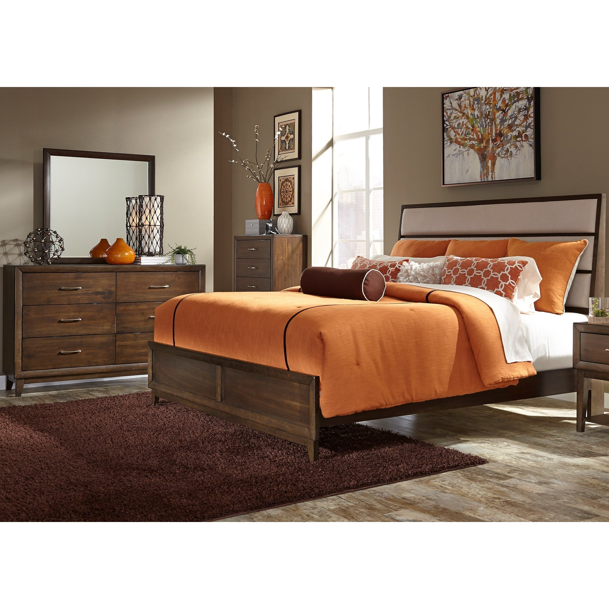 Liberty Furniture Hudson Square Bedroom King Bedroom Group - Item Number: 365-BR-KPBDMC