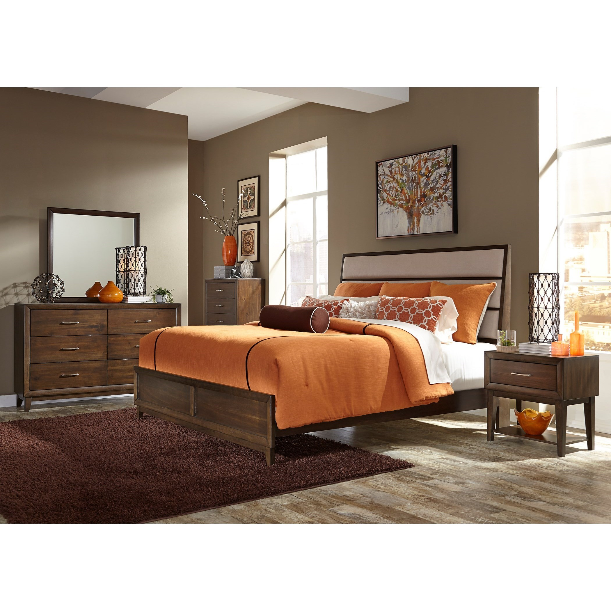 Liberty Furniture Hudson Square Bedroom King Bedroom Group - Item Number: 365-BR-KPBDMCN