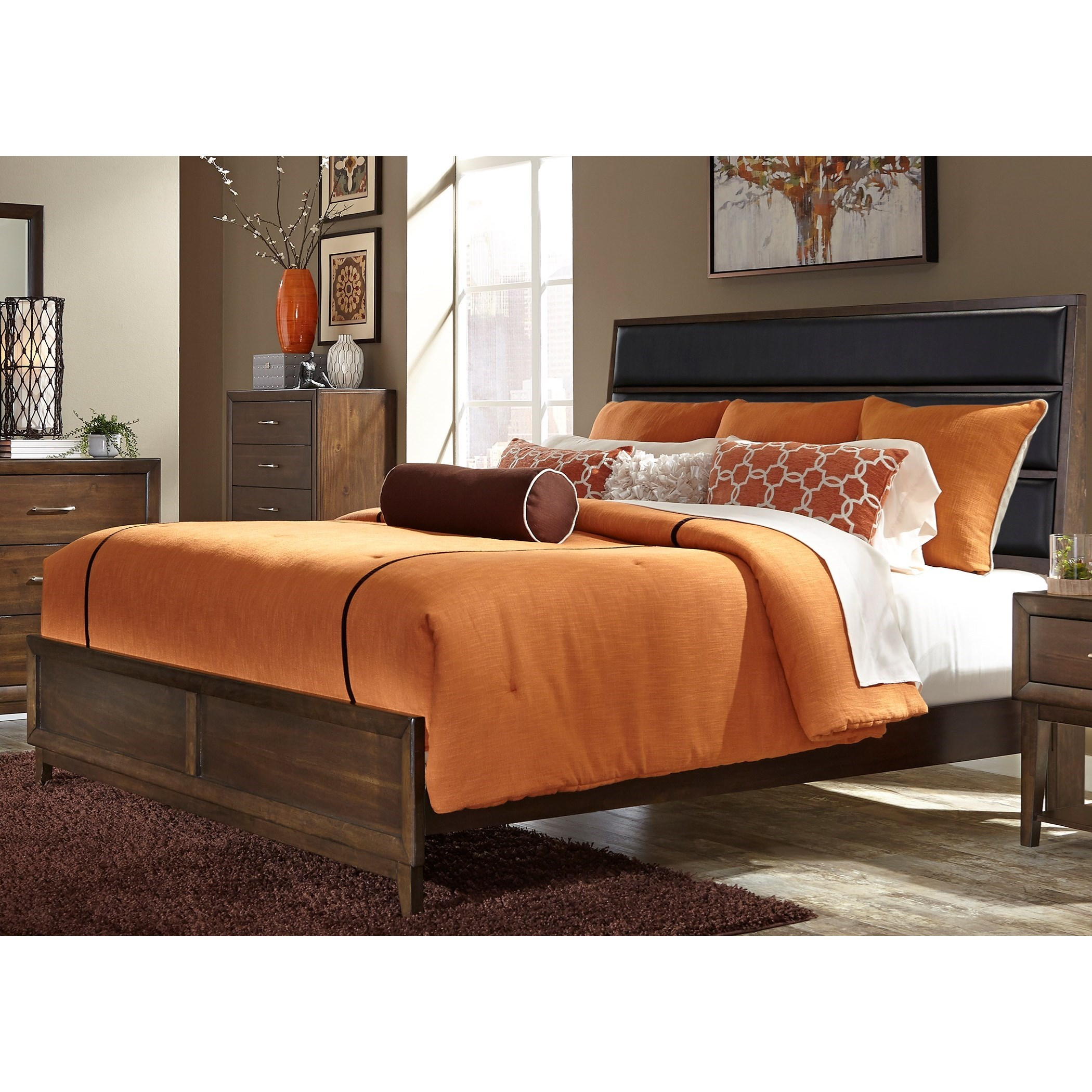 Liberty Furniture Hudson Square Bedroom King Low Profile Bed  - Item Number: 365-BR-KUB