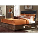 Vendor 5349 Hudson Square Bedroom King Storage Bed with Upholstered Headboard - Item Shown May Not Represent Size Indicated