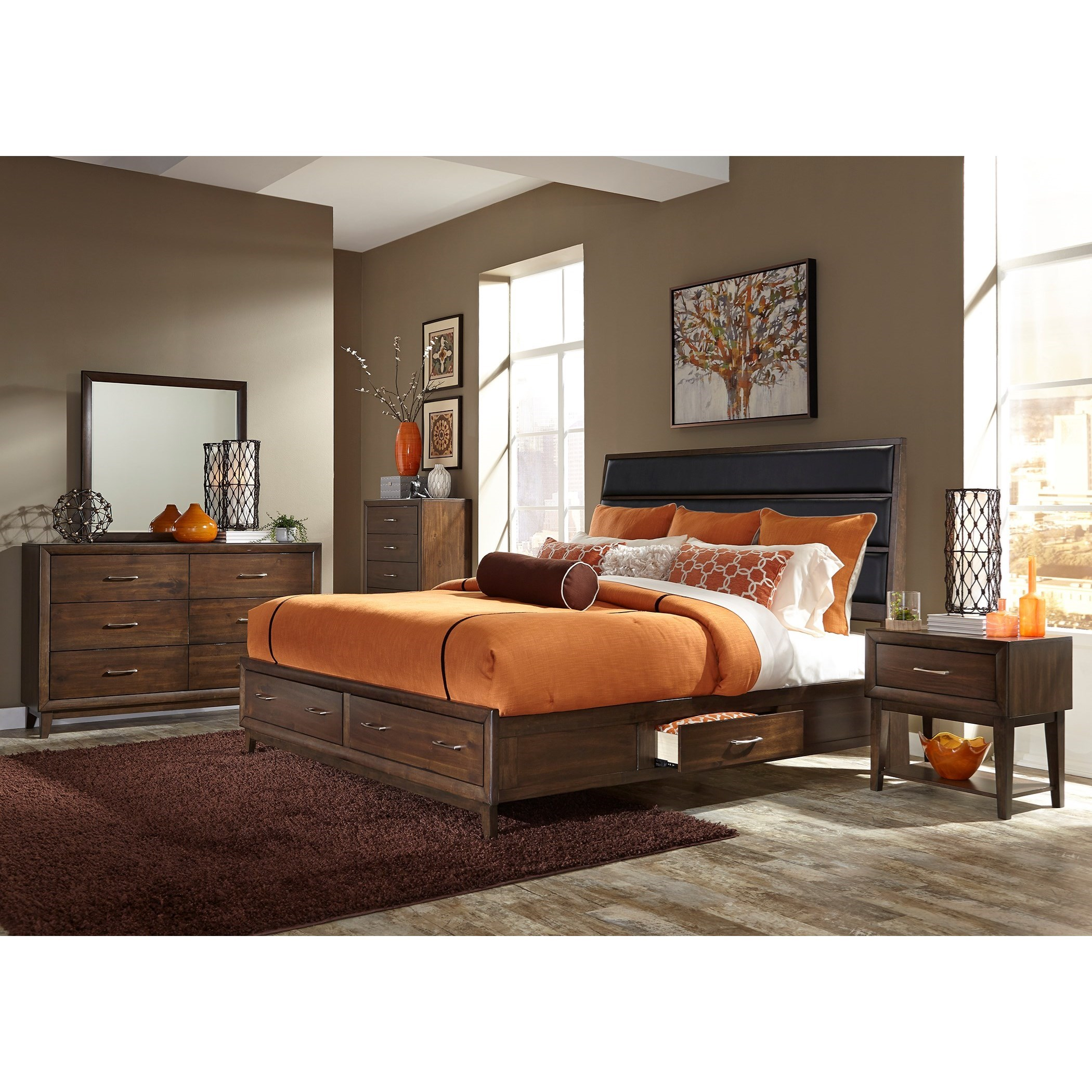 Liberty Furniture Hudson Square Bedroom King Bedroom Group - Item Number: 365-BR-KUSDMCN