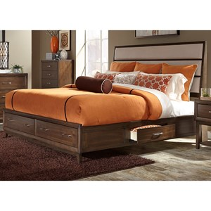 Vendor 5349 Hudson Square Bedroom Queen Two Sided Storage Bed