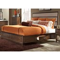 Liberty Furniture Hudson Square Bedroom Queen Two Sided Storage Bed  - Item Number: 365-BR-Q2S