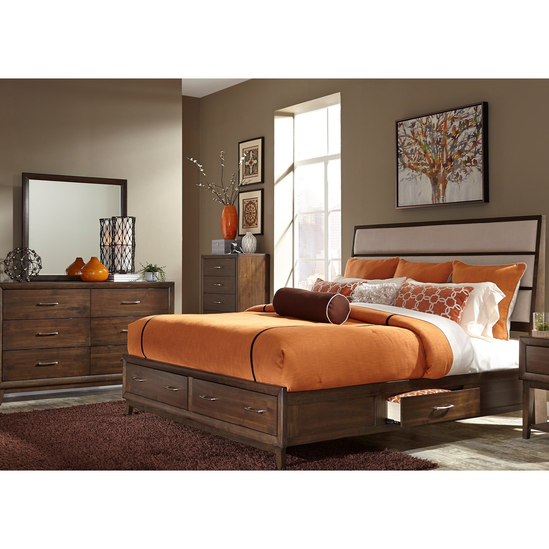 Liberty Furniture Hudson Square Bedroom Queen Bedroom Group - Item Number: 365-BR-Q2SDMC