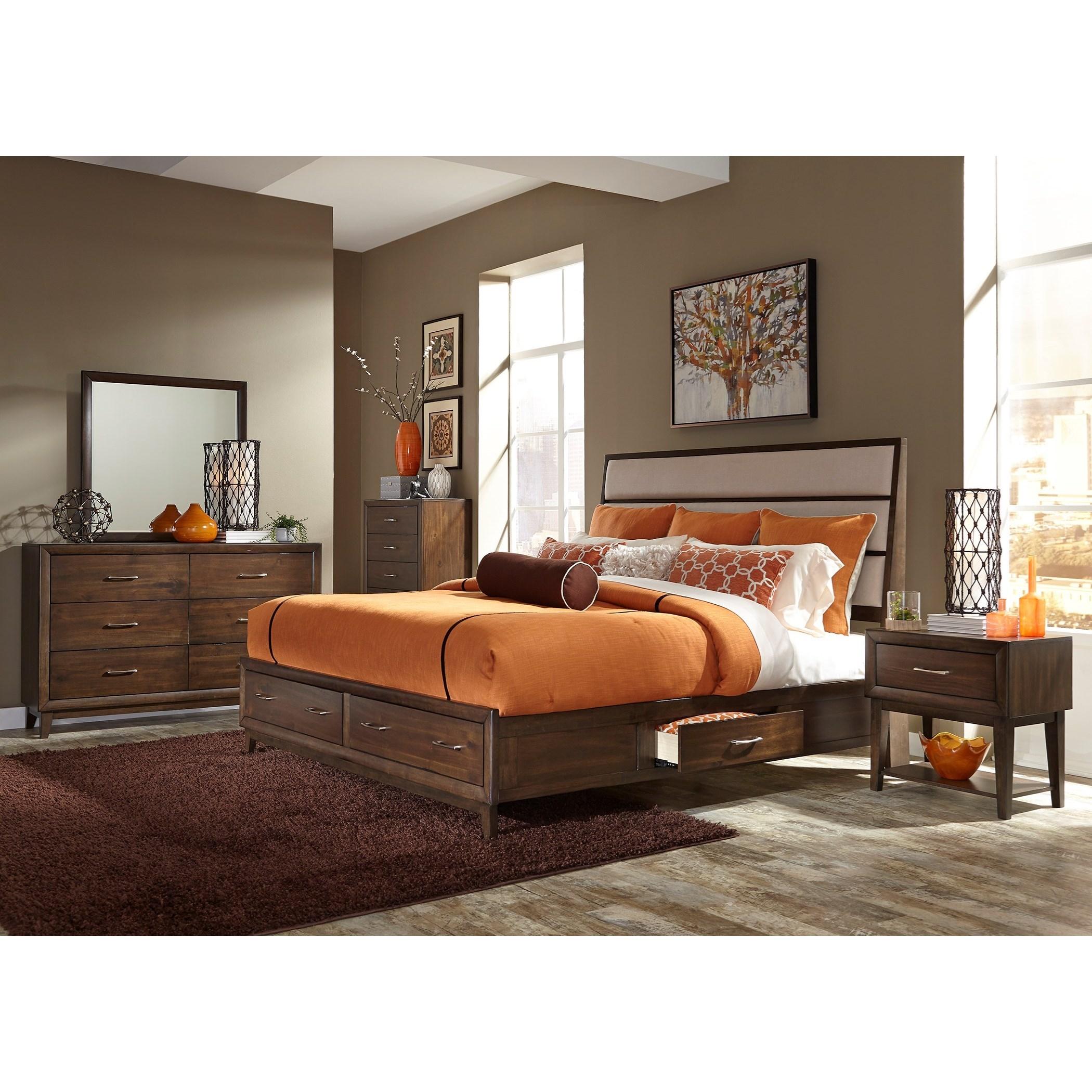 Liberty Furniture Hudson Square Bedroom Queen Bedroom Group - Item Number: 365-BR-Q2SDMCN