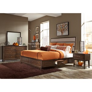 Liberty Furniture Hudson Square Bedroom Queen Bedroom Group with Storage Bed