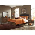 Vendor 5349 Hudson Square Bedroom Queen Low Profile Bed with Upholstered Headboard