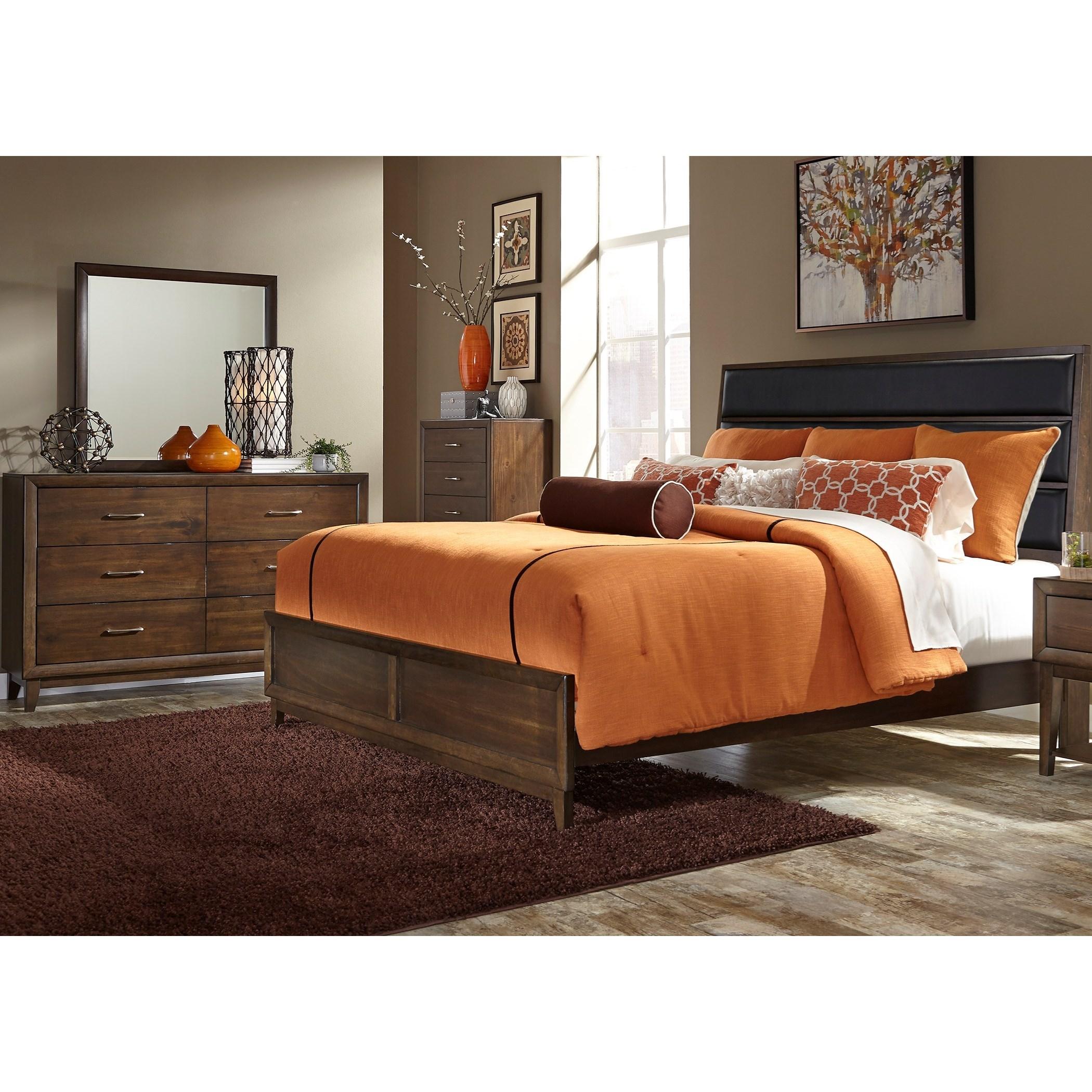 Liberty Furniture Hudson Square Bedroom Queen Bedroom Group - Item Number: 365-BR-QUBDMC