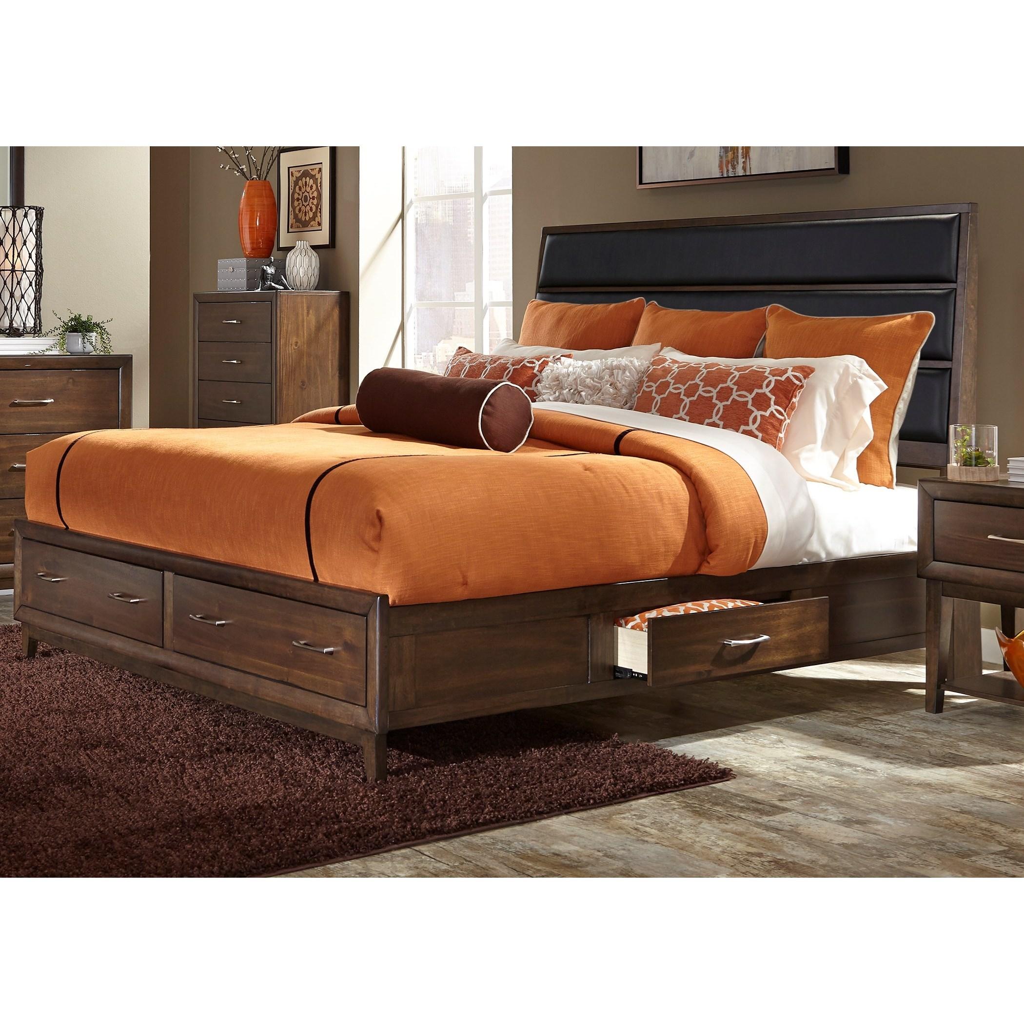 Liberty Furniture Hudson Square Bedroom Queen Storage Bed  - Item Number: 365-BR-QUS