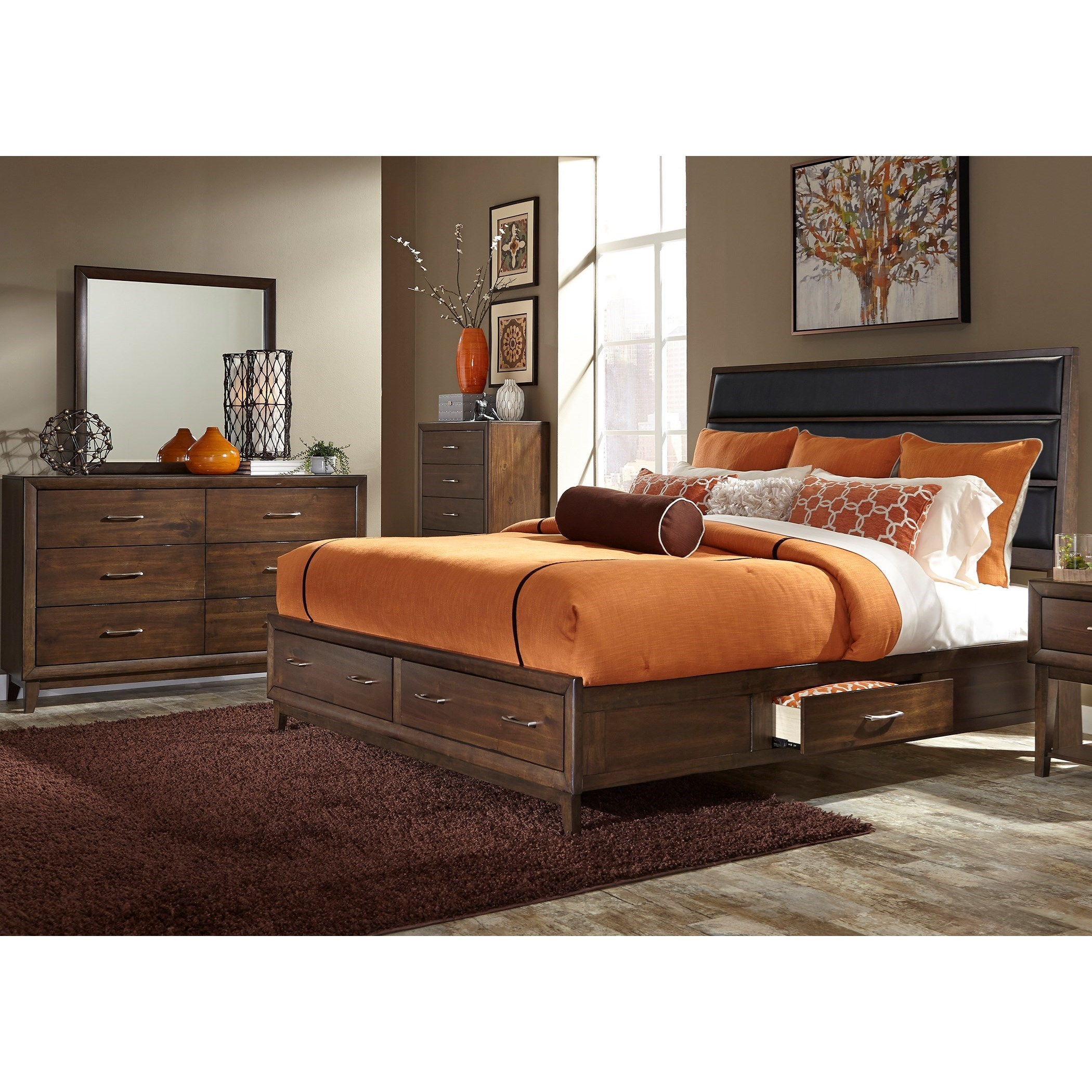 Liberty Furniture Hudson Square Bedroom Queen Bedroom Group - Item Number: 365-BR-QUSDMC