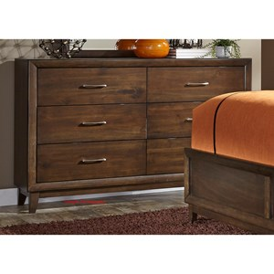 Liberty Furniture Hudson Square Bedroom 6 Drawer Dresser