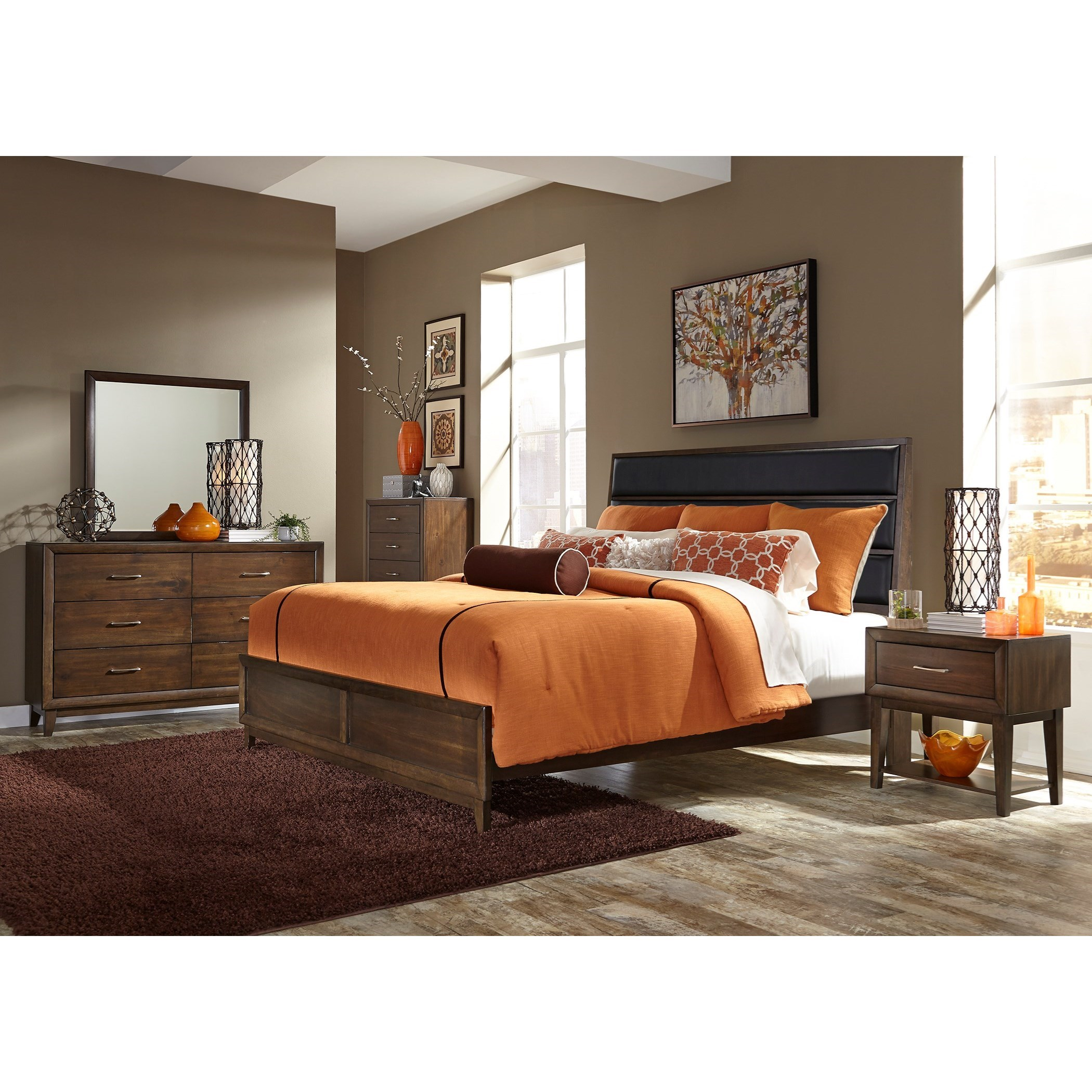 Liberty Furniture Hudson Square Bedroom 365 Br61 1 Drawer Night Stand With Shelf Furniture And