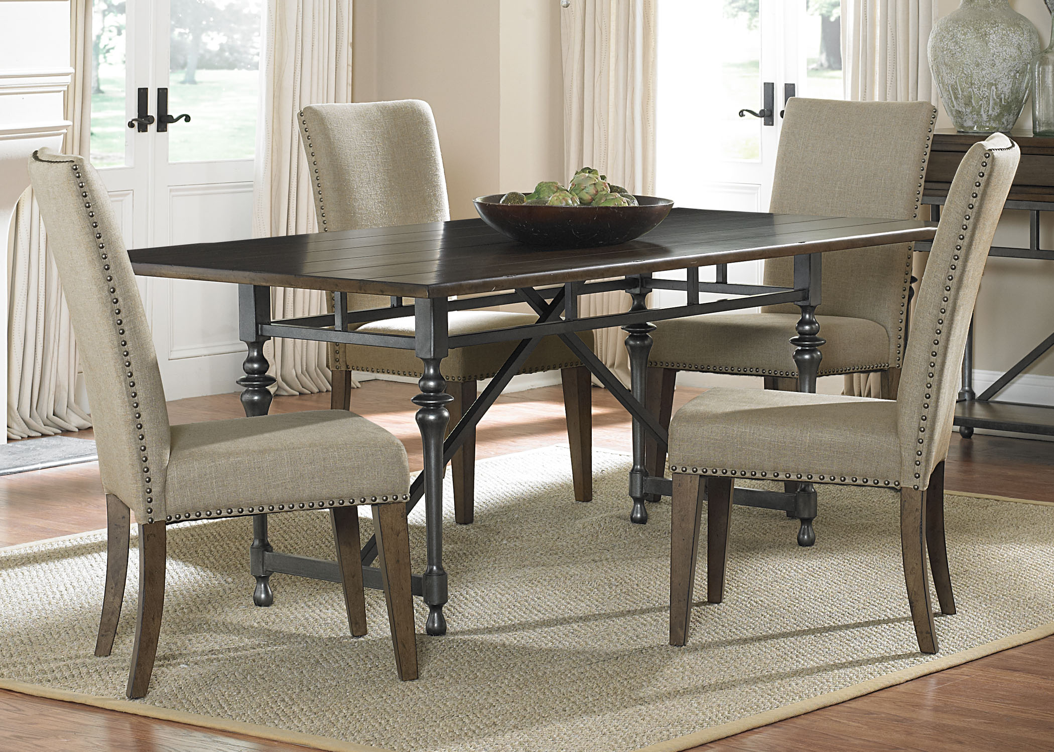 Liberty Furniture Ivy Park 5 Piece Rectangular Table Set  - Item Number: 563-CD-5RLS