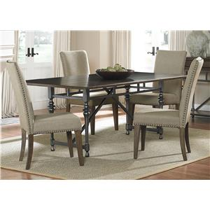 Vendor 5349 Ivy Park 5 Piece Rectangular Table Set