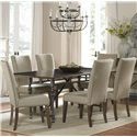 Liberty Furniture Ivy Park Dining Table w/ Legs - Leg Table Shown with Upholstered Side Chairs