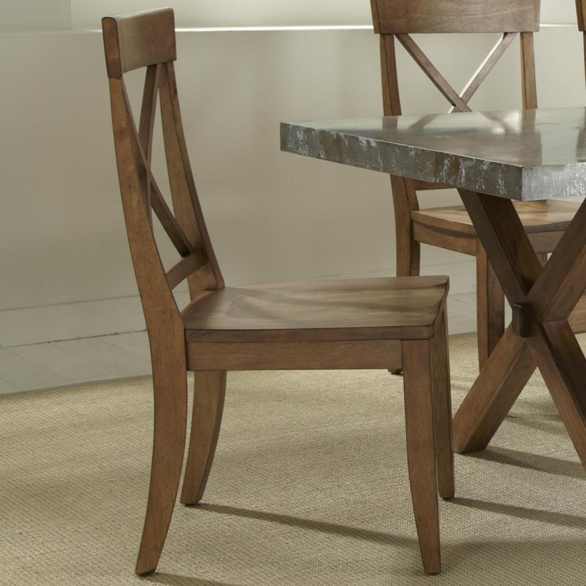 Liberty Furniture Keaton X-Back Side Chair - Item Number: 119-C3000S