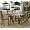 Liberty Furniture Keaton 6 Piece Trestle Table Set  - Item Number: 119-CD-SET124