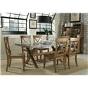 Liberty Furniture Keaton Serving Table & Satted Hutch Set with Casters